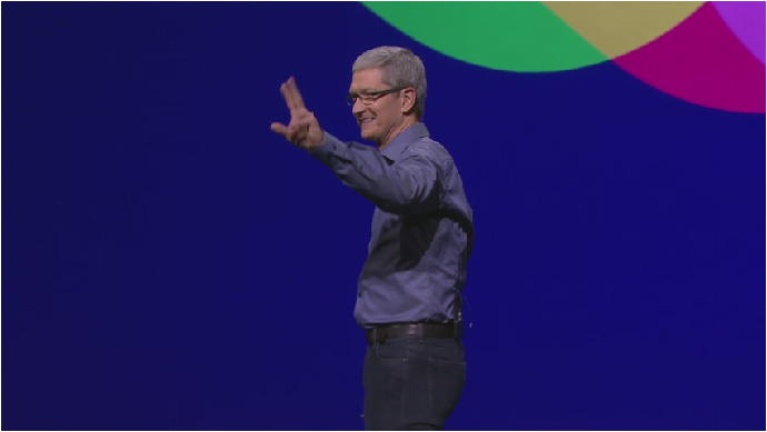 Tim Cook an der Apple-Show vom 9. September 2015