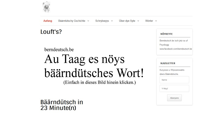 Screenshot von berndeutsch.be